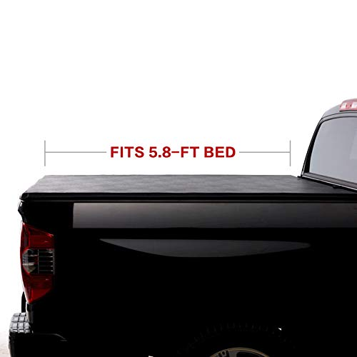 Fit 04-06 Chevy Silverado//GMC Sierra 1500 07 Classic Body Pickup 5.8ft Fleetside Bed Mounting Hardware North Mountain Soft Vinyl Roll-up Tonneau Cover Clamp On No Drill Top Mount Assembly w//Rails