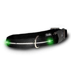 Visiglo Colliers lumineux LED pour chiens Noir