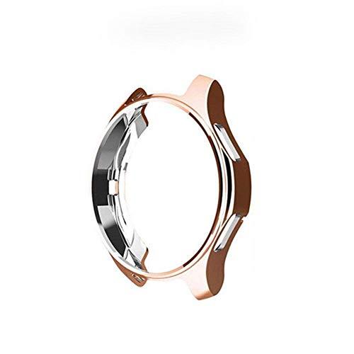 G-RF Funda para Samsung Galaxy Watch 46mm/42mm/ Gear S3 Recubrimiento De TPU Hueca Cubierta (42mm,Rose Oro)