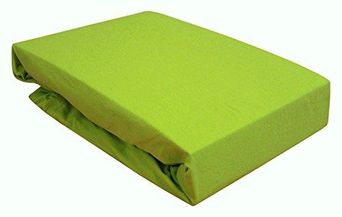 Arle-Living Spannbettlaken für Wasserbett/Boxspring/Übergrößen 180-200x200-220 cm Apfel Grün (apfelgrün/Green/vert)
