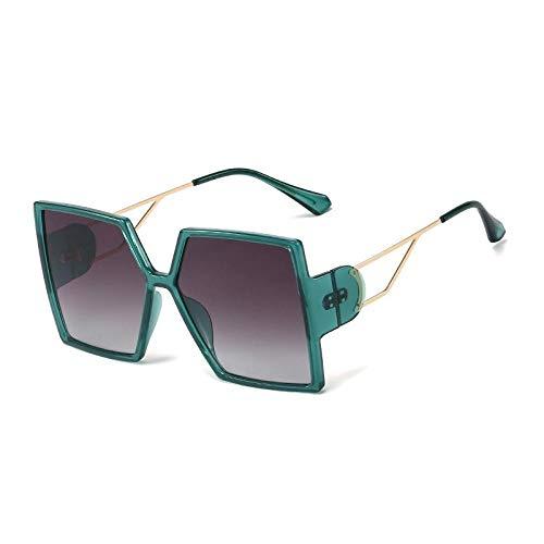 U/N Gafas de Sol cuadradas de Gran tamaño de Lujo para Mujer, Gafas de Sol de Leopardo Negro Vintage, Gafas de Sol de aleación para Mujer, Tonos Rosados-2