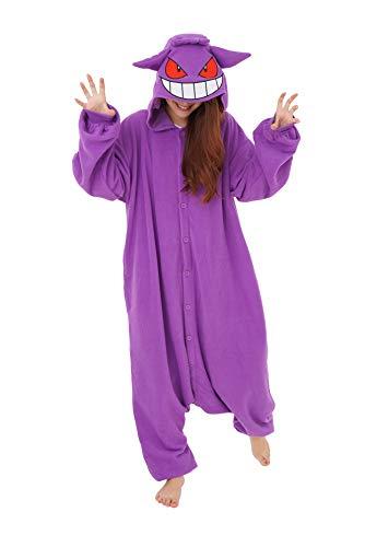 Gengar Pokemon Kigurumi Onesie (Adult XL) Purple