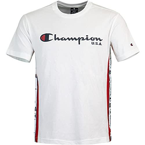 Champion Off Court T-Shirt (L, White/Navy)
