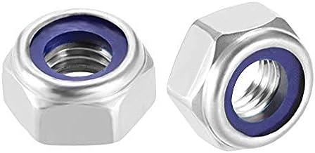 DealMux M10 x 1.5mm 304 RVS Nylon Insert Anti-Slip Hex Lock Moer Zelfvergrendeling 50 stks