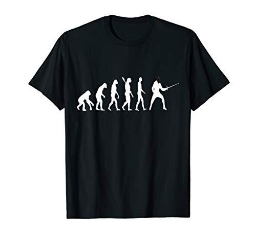 Fechter Evolution Fechten Entwicklung Fechtkampf Degen Shirt T-Shirt
