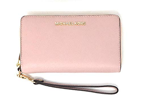 """Michael Kors Womens, Compatible with iPhone 4,5,6,7, 7S,8, 8S and Samsung Galaxy 7"""" wide 4"""" high 1"""" Width 6 Card Holders Plus 1 ID Window Interior Details: One Zip Coin Pocket, One Cell Phone Pocket, One Open Pocket IMPORTANT : Style Made Only For MK..."""