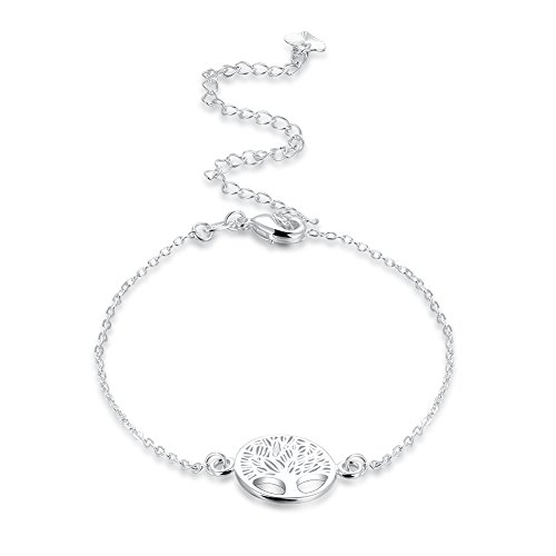 Nuvola S925, sieraad voor dames, armband, zilver, hanger, levensboom, symbool ketting, enkelbandje voor dames, zilver, cadeau voor San Valentino