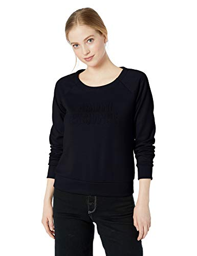 Armani Exchange Damen 8NYM76 Sweatshirt, Blau (Navy 1510), One Size (Herstellergröße: XL)