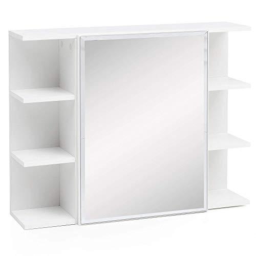 Wohnling WL5.754 Hängeschrank, Holz, Weiß, 80 x 64,5 x 20 cm