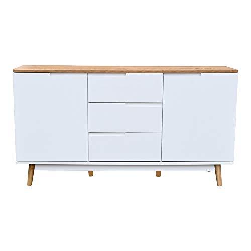 dasmöbelwerk B- Ware Sideboard Schubladen Kommode James Skandinavisch Wohnzimmer TV Möbel 140 cm