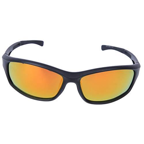 Gafas De Sol Polarizadas De Moda Protección UV Gafas De Bicicleta para Deportes Al Aire Libre Ciclismo Pesca Conducción Marco Negro Lente Roja