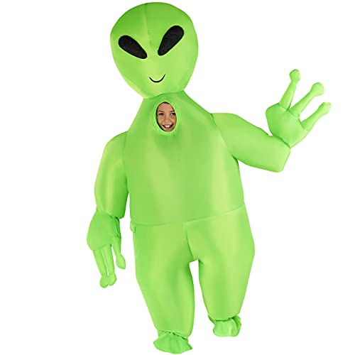 Morph Costumes Kids Inflatable Alien Costume Giant Blow Up Halloween Costume For Kids