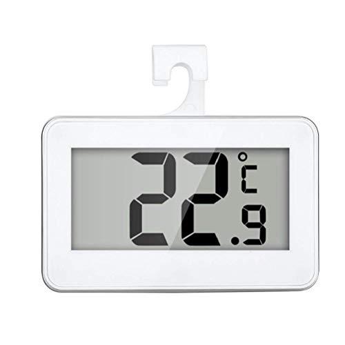 TOPofly Termómetro del refrigerador Digital Resistente al Agua de Temperatura inalámbrico Refrigerador Congelador a Partir -20 a 60 Grados Grande del LCD Display