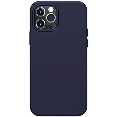 "Nillkin Case for Apple iPhone 12 / Apple iPhone 12 Pro (6.1"" Inch) Flex Pure Case Liquid Silicon Finish Anti Finger Print with Inner Microfibre Blue Color"