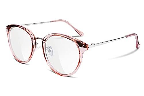 FEISEDY Women Vintage Glasses Frames Round Eyewear Clear Lens B2260