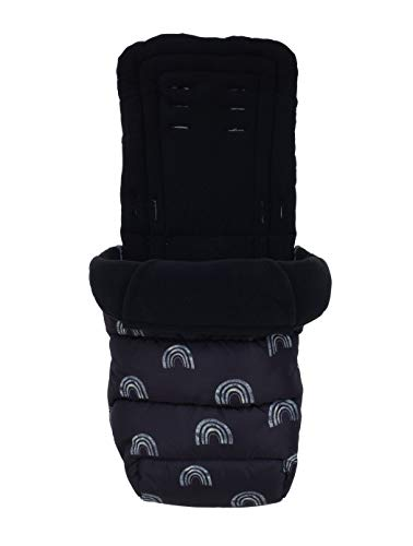 Cosatto Saco universal – Cosy Toes, para todas las estaciones, acolchado de lujo, lavable, arco iris nocturno