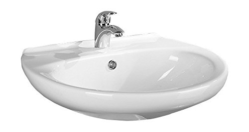 'aquaSu® Handwaschbecken Aveiro | 45 cm | Weiß | Waschtisch | Gäste-WC