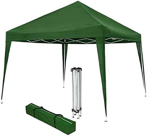 Pergola de jardín 3x3 Plegable con Laterales, Carpa para Exteriores Plegable, Carpa Plegable 3x3 Ideal para Uso en Playa, Camping, Jardines, terrazas, Fiestas