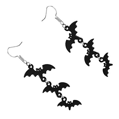 Happyyami 1 par de Pendientes Colgantes de Halloween Vampiro Palo Gota Pendiente para Mujeres Traje Fiesta Decoración Suministros
