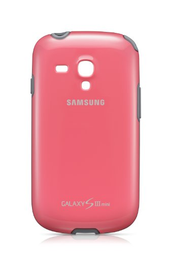 Samsung Original Schutzhülle / Cover EFC-1M7BPEGSTD (kompatibel mit Galaxy S3 mini) in pink