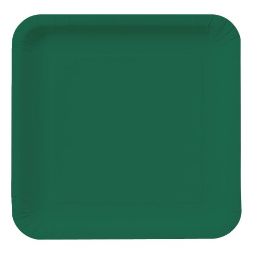 Creative Converting Touch of Color 18 Count Square Paper Lunch Plates Hunter Green
