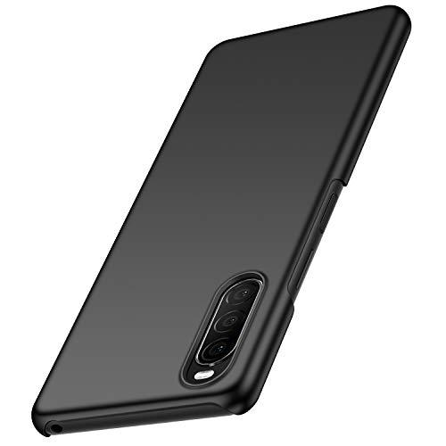 anccer Kompatibel mit Sony Xperia 10 II Hülle [Serie Matte] Elastische Schockabsorption & Ultra dünnes Handyhülle Design für Sony Xperia 10 II (Glattes Schwarzes)