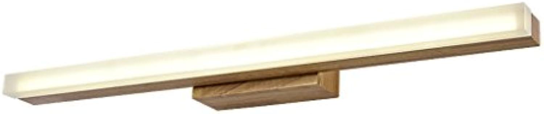FJH Nordic Kreative Holz Led Spiegel Licht Moderne Und Einfache Wandleuchte Kommode Spiegel Schrank Licht Make-Up Lichter (gre   40cm 7W)