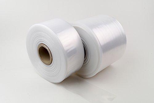 LDPE Schlauchfolie auf Rolle 500m Lauflänge, 400mm breit, 50my stark, transparent und scannerlesbar, lebensmittelechte Beutelfolie