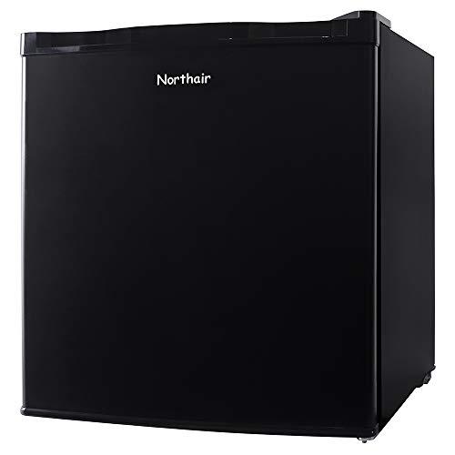 Northair Upright Freezer 1.1 cu. ft. Compact Reversible Single Door Table Top Mini Freezers for Ice Cream/Breast Milk/Sea Food, Removable Shelf, Adjustable Thermostat