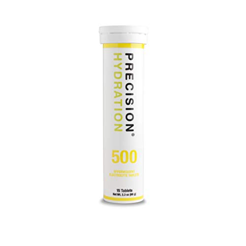 Precision Hydration Lite Electrolyte Drink - Multi Strength Effervescent Hydration Tablets - Low Calorie, Gluten Free, Vegan/Vegetarian Friendly (500mg/l - Yellow Tube, 1 Tube)