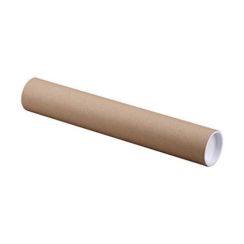 Wertpack 10x Versandrohre, Papier/Kunststoff, Braun, 2 mm Wandstärke, A1 = 750 x 80 mm