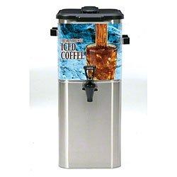"Wilbur Curtis TCOC421G000 Oval Tea Dispenser, Stainless Steel, 4-Gallon, 21.75"" Height x 11"" Width"