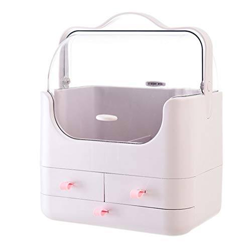HUIXINLIANG Conjuntos de visualización de caja de maquillaje y joyería, caja de almacenamiento de cosméticos portátil, caja de visualización a prueba de agua y resistente al polvo, adecuado para gabin