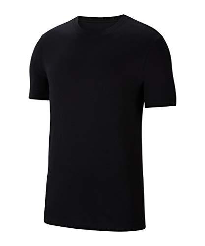 NIKE, Park20, Camiseta De Manga Corta, Blanco Negro, XL, Hombre