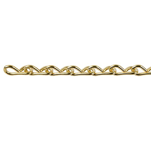 Perfection Chain Products 33301 #14 Single Jack Chain, Brass Brite, 10 FT Bag