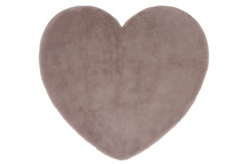 LordofRugs Kiddy Tapis doux en forme d'étoile et de cœur pour chambre d'enfant 85 x 85 cm