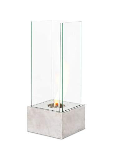 Stones, LEVELS, Caminetto A Bioetanolo Da Pavimento, Bianco, 25 x 25 x 65 cm