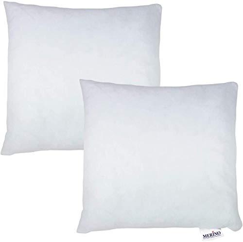 Merino-Betten 2er Set Kissen 50x50 | Kopfkissen | Sofakissen | Füllkissen mit Reißverschluss (weitere verfügar)