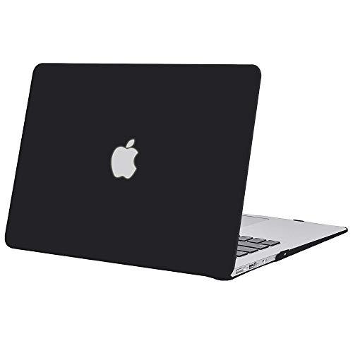 TECOOL Coque MacBook Air 13 2010-2017 (Modèle: A1466 / A1369), Ultra Slim Plastique Coque Rigide Housse pour MacBook Air 13.3 Pouces - Noir