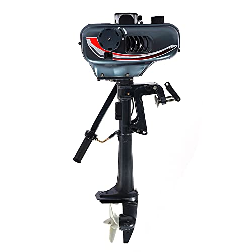TFCFL Outboard Motor, 2 Stroke 3.5HP Heavy Duty Outboard Motor Boat Engine Water Cooling CDI System (US Stockt)