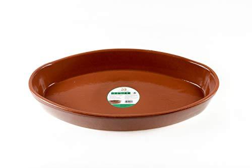 Raimundo Sánchez Ovalada 57X34 cm Fuente de Barro para Asar, Miel