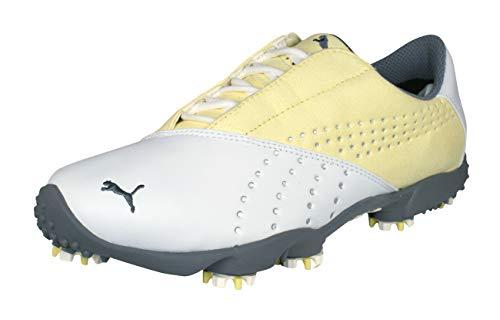 Puma Tour Saddle SL Zapatos de Golf De Las mujeres-White-37