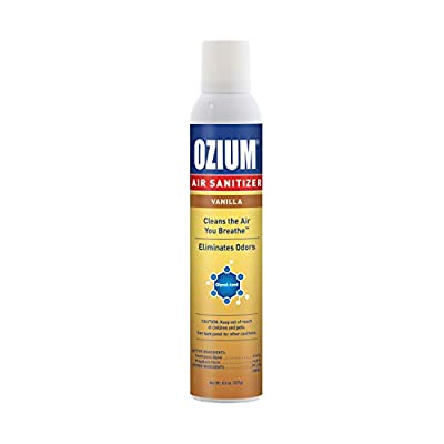 Ozium 8 Oz. Air Sanitizer & Odor Eliminator 1 Pack for Homes, Cars, Offices and More, Vanilla
