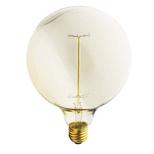 G125 40W Retro Spirale Wolfram Glühlampen Antike E27 Edison Vintage Birne Warmweiß 2200K Dimmbar Dekorative Glühbirnen 220-240V AC (1PC/G125-Z)