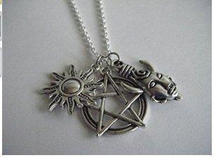 Collar con colgante de protección sobrenatural de demonios trampa antiposesión tatuaje Samulet Dean Sam Winchester