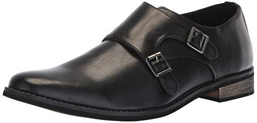 Deer Stags Herren Dress Comfort Strap Cyprus (Zypern) förmlich, komfortabel, mit Monk-Riemen, schwarz/schwarz, 44 EU