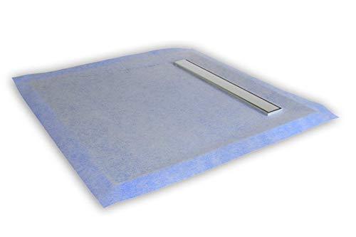 Duschboard mit Rinne 1000×1000 cm, inkl. Ablauf Waagerecht