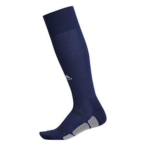 adidas Unisex Utility All Sport Socks (1-Pair), Dark Blue/White/Light Onix, 5-8.5
