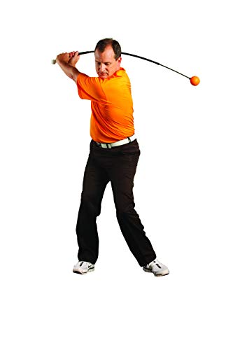 Orange Whip Full-Sized Golf Swing Trainer Aid - for Improved Rhythm, Flexibility, Balance, Tempo, and Strength - 47""