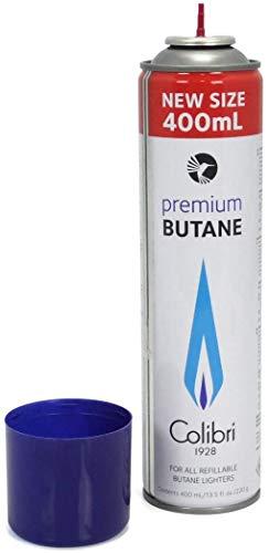 Colibri GAZ400 Premium Butane für alle nachfüllbaren Butane Feuerzeuge 400ml + All u need Schlüsselanhänger (2)